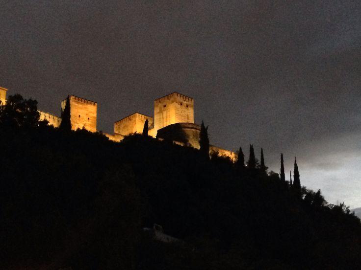 Granada, Alhambra by night