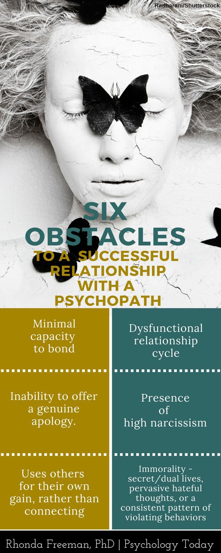 6 Obstacles to a successful relationship with a psychopath