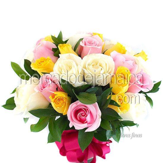 Enviar Flores Rosas Amarillas Azul !| Envia Flores