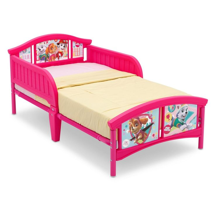 Delta Children Nick Jr. Paw Patrol - Skye & Everest - Plastic Toddler Bed,