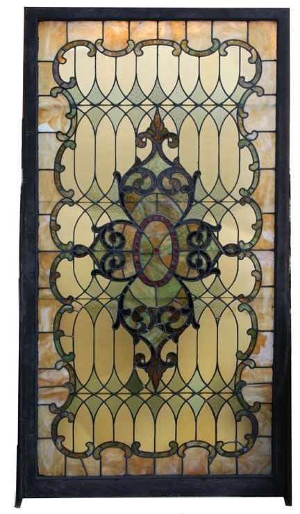 ❤ Antique stained glass landing window - 1900-1910. / victorian