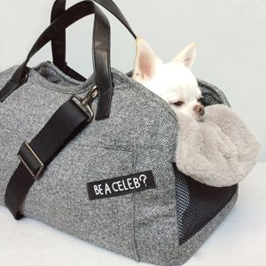 Louisdog Herringbone Tote Dog Bag
