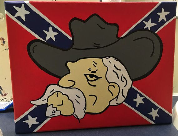Colonel reb with mississippi flag by Thrillsthruthefrills on Etsy