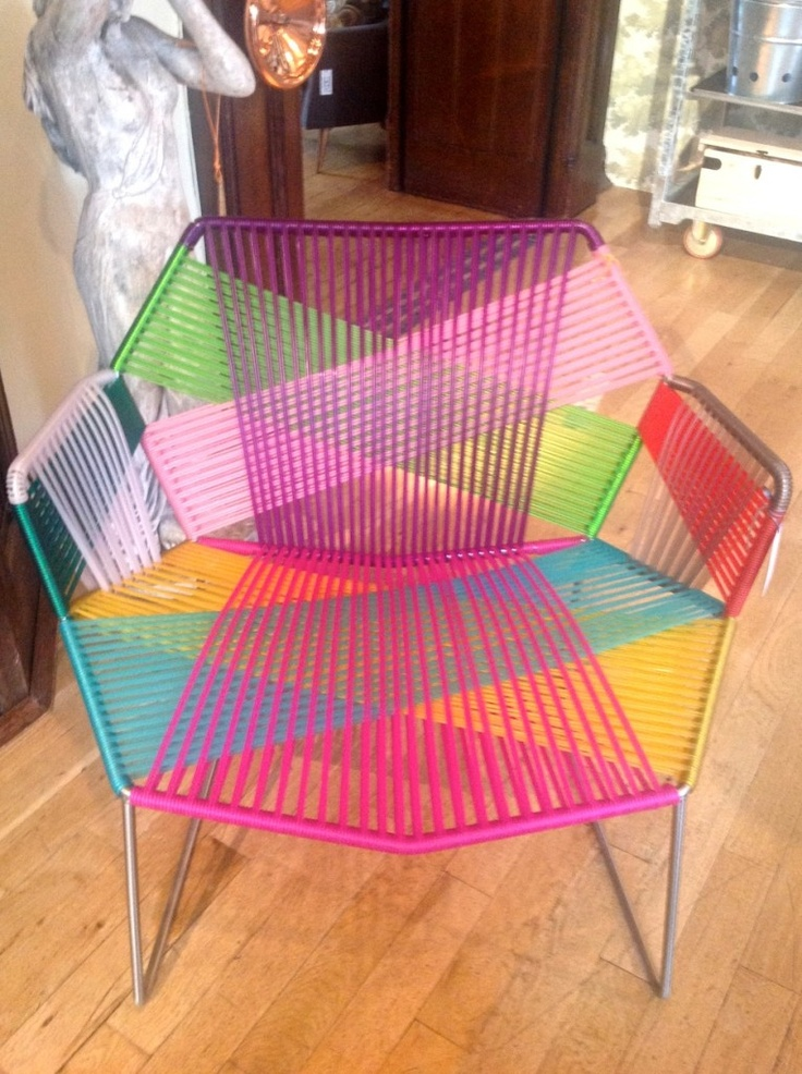 A cool woven chair from Liberty store for outdoor living summer 2013