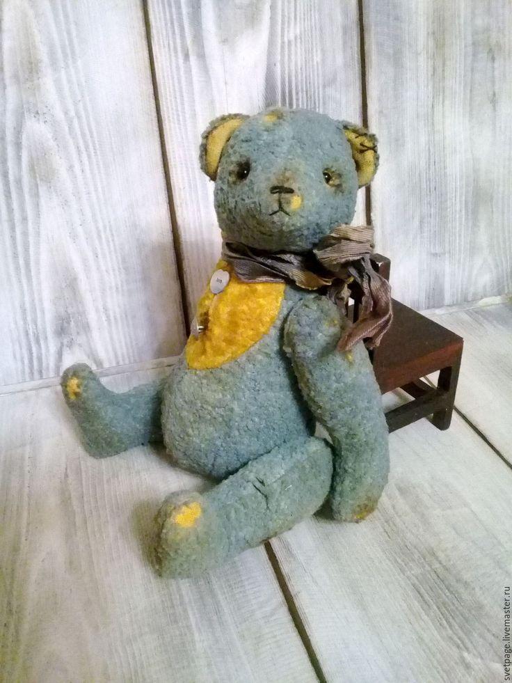 Купить Старый Друг/плюшевый мишка/тедди - мятный, мишка тедди, мишка ручной работы, мишка в подарок