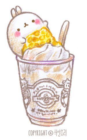 먹어보기 전에는'바닐라 아이스크림에 꿀 올린거겠지 뭐.'그랬었는데, 막상 먹어보기 이것은 신세계!!+_+ ...