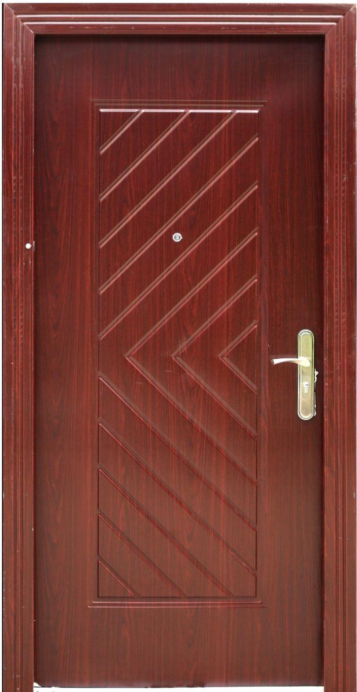 Wood Finished Security Steel Door Shell Doors Steel