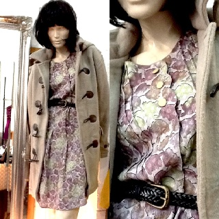 Duffle coat was $149, now $120. Dress $75. #vintage #coat #duffle #dress #mod #fashion