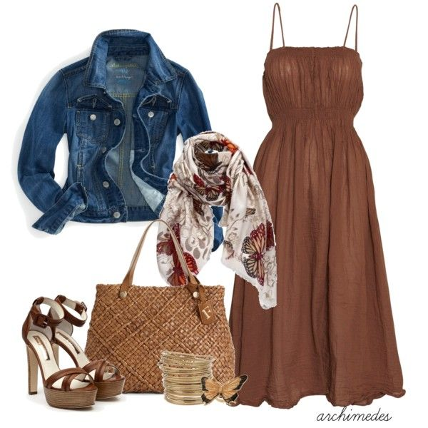 Uplifted, created by archimedes16 on Polyvore: Summer Dresses, Clothing Jewelry Shoes Etc, Jeans Jackets, Cute Dresses, Denim Jackets, Summer Outfits, Casual Wear, The Dresses, Offices Wear