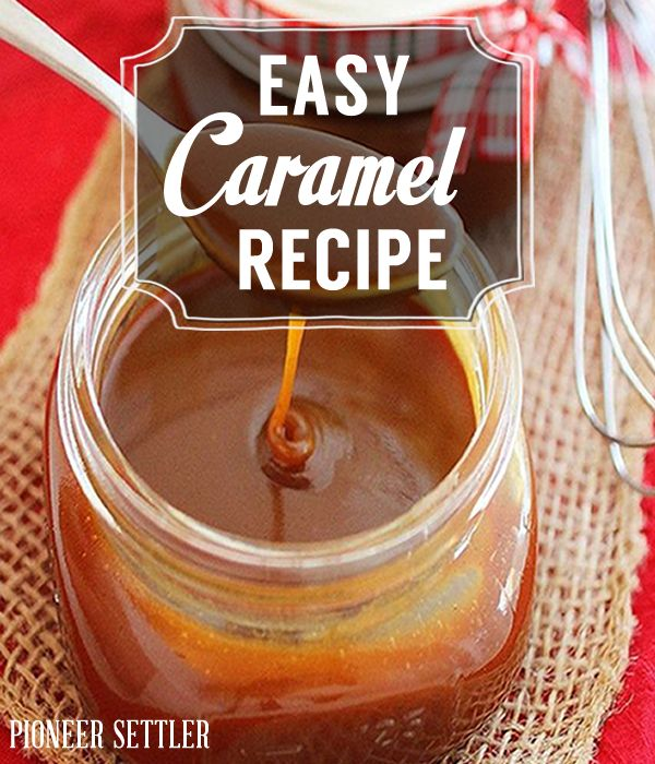 Homemade caramel recipe , easy homesteading recipe . Super chewy perfect sauce for apples . | http://pioneersettler.com/easy-caramel-recipe/