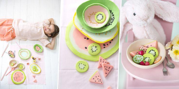 Porcelaine froide: faire une dinette pour les enfants