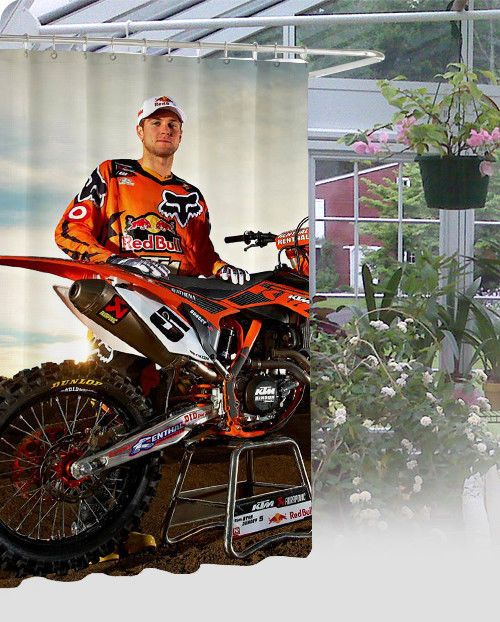 """New Limited Edition Ryan Dungey Design High Quality Shower Curtain 60"""" x 72"""" #Unbranded #Modern"""