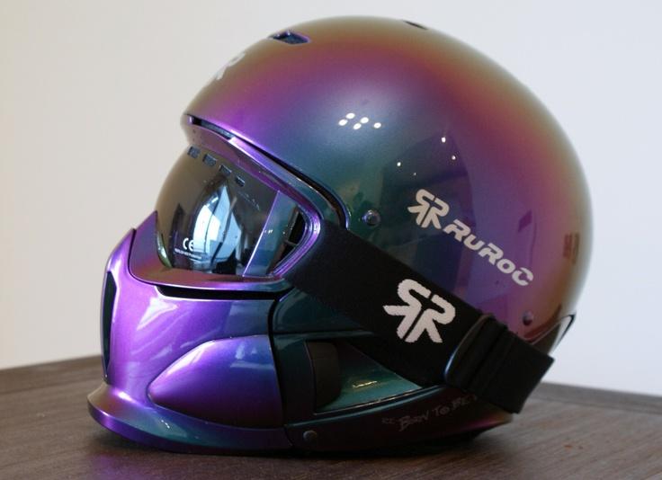 Spectraflair painted Ruroc Helmet.. Legit paint job