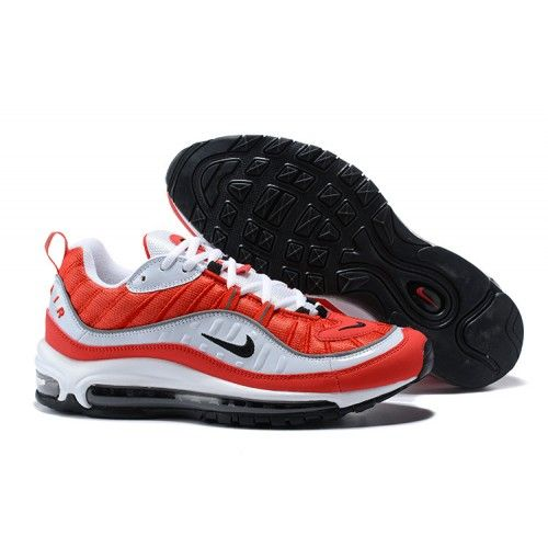 f580b70c7f9e Nike Air Max 98 X Supreme Shoes Red White Black