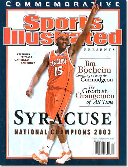 Melo NCAA Champion 2003 with Syracuse - Sports Illustrated Cover