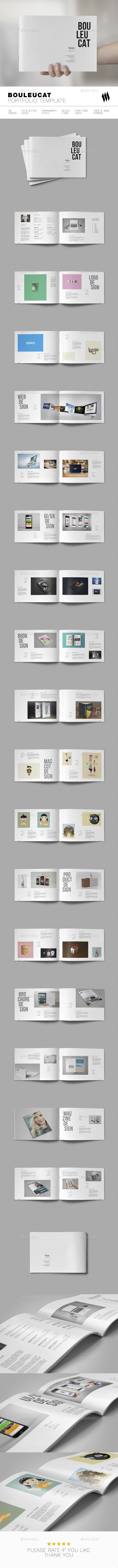 Bouleucat Portfolio Brochure Template 	InDesign INDD. Download here: http://graphicriver.net/item/bouleucat-portfolio-template/16423051?ref=ksioks