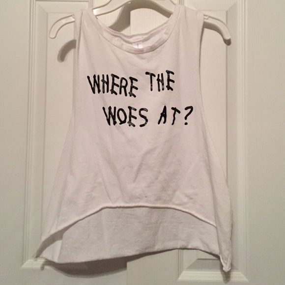 High low muscle cut crop top Muscle cut crop t shirt. Just bought this summer, worn maybe twice Etsy Tops Crop Tops