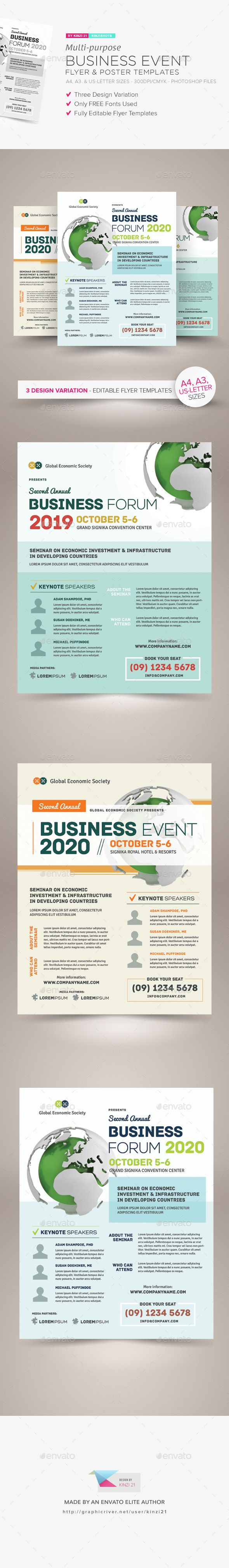 Multi-purpose #Business #Event Flyer & Poster Templates - Corporate Flyers
