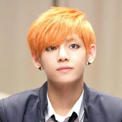 Bts V orange hair