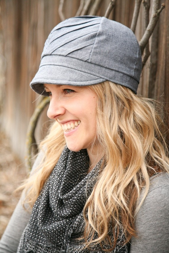 chevron hat, great for fall