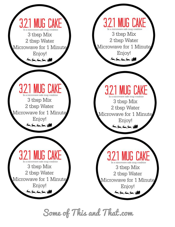 321 Mug Cake! Easy and Fun DIY Gift | Mug recipes, Mug ...