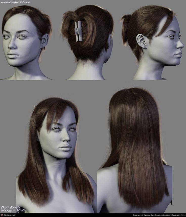 4 New Hairstyles (2) by (Woody) Dani Garcia | 3D | CGSociety