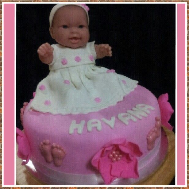 Jeanettes first great grandaughters cake