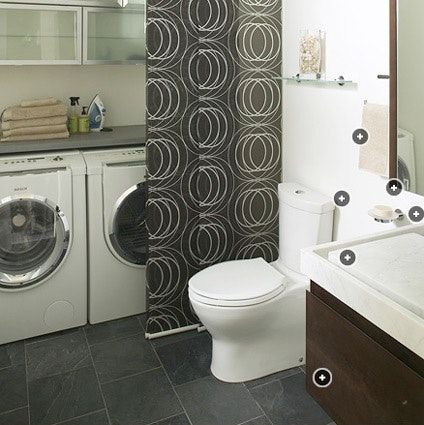 For those readers lucky enough to have a working laundry setup in your apartment bathroom, you may or may not care that the hulking washing and drying machines can sometimes be an eyesore
