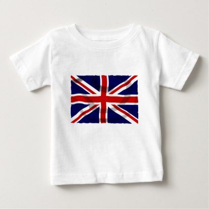Union Jack Flag Baby T-Shirt - country gifts style diy gift ideas