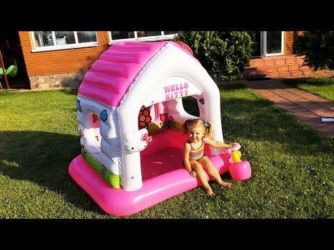 ✿ ДОМИК Hello Kitty ПЛАВАЕТ НА ВОДЕ Игры Для Девочек Hello Kitty Playhouse for children Toy Unboxing    {{AutoHashTags}}