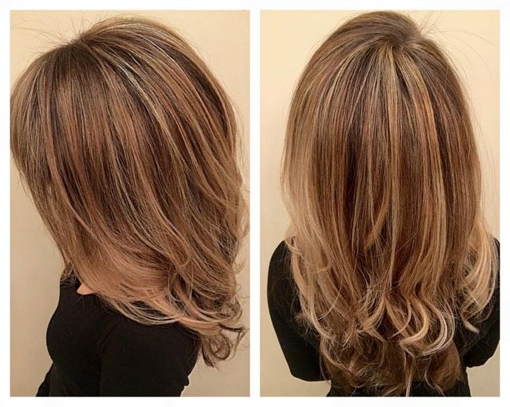 balayage hand painted highlights layers angles and loose curls. blonde hair. Done by Nicky