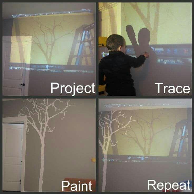 Projector murals for your walls diy pinterest walls for Best projector for mural painting