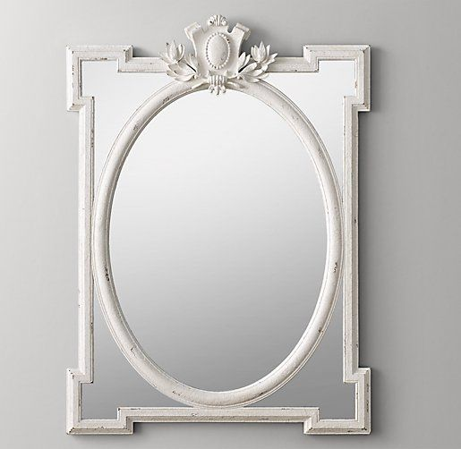 Juliette Large Dresser Mirror - Antique White