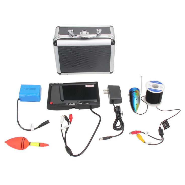 Professional Fish Finder With Underwater Video Camera, 7 Inch LCD Monitor