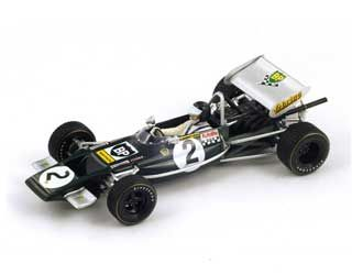 Lotus 69 (Jochen Rindt - Pau GP 1970) in Dark green (1:43 scale by Spark S2145)