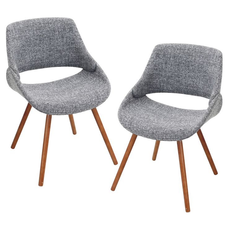 The wide welcoming seat of the LumiSource Fabrico Chair beckons for one to sit and relax. A scooped contoured seat and wood embellished curved back adds to its modern, yet comfortable design.