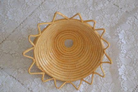 Basket in straw and rush, handmade in Sinnai (Cagliari)
