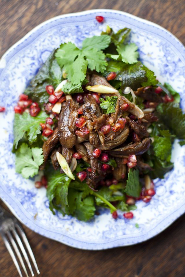 Duck Pomegranate and Mint Salad | DonalSkehan.com