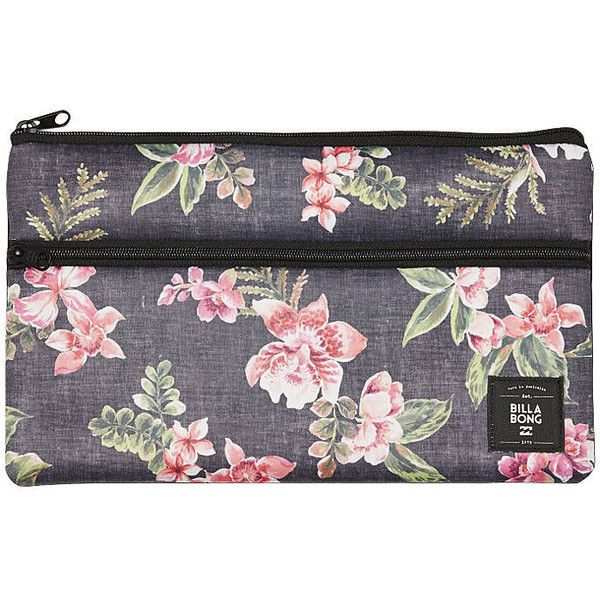 Billabong Wild Orchid Pencil Case (€13) ❤ liked on Polyvore featuring home, home decor, office accessories, black, billabong, colored pencil case, billabong pencil case, zipper pencil case and black pencil pouch