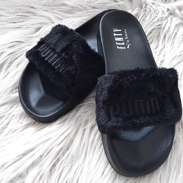 Puma Fenty Fur Slides, so fluffy so comfy so good. #PUMAAU #FentyxPuma #badgalriri