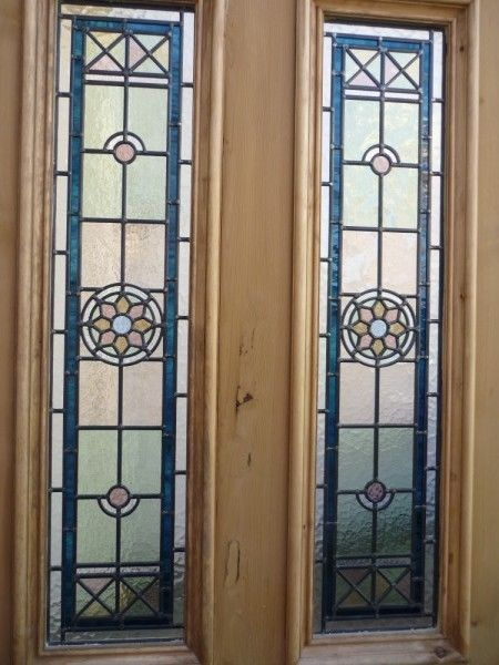 11 best victorian stained glass images on pinterest for Domestic front doors