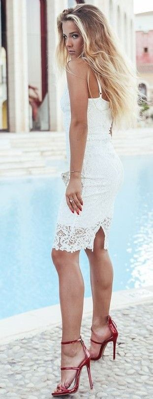 White Romantic Dress                                                                             Source