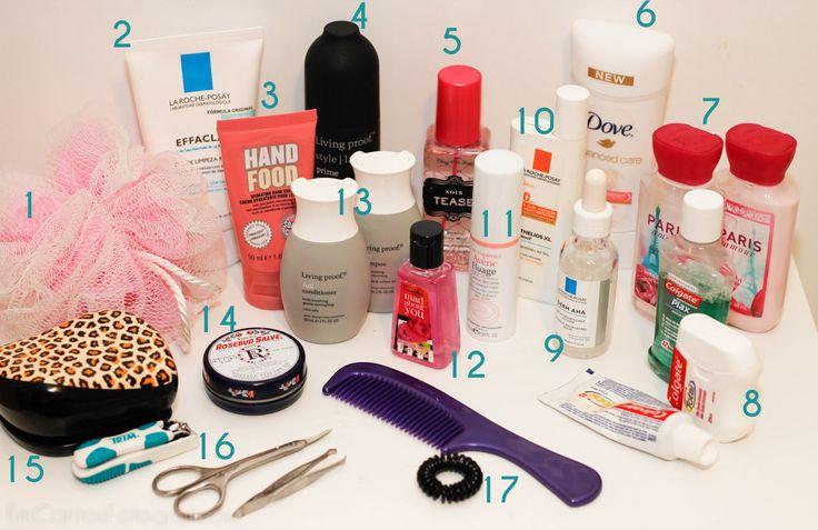 O que levar na mala de viagem cosméticos