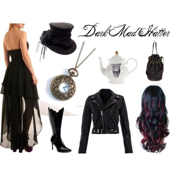 Dark Mad Hatter Costume.