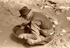 It's hard work, trying to find some Gold
