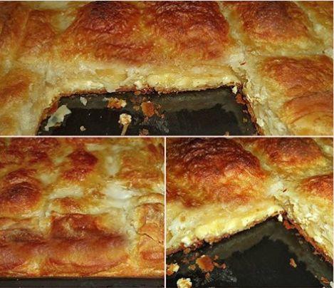 Τυρόπιτα με πανεύκολο χειροποίητο φύλλο σφολιάτας και γέμιση από σιμιγδαλόκρεμα με τυρί!!! Απλά συγκλονιστική !!!