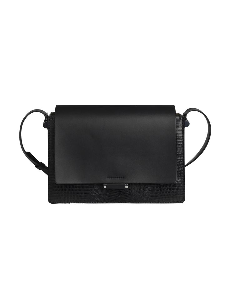Presented in luxurious leather punctuated with silver-plated hardware and a snake-embossed body, this expertly crafted cross-body bag is imbued with classic appeal and feminine charm. Finished with painted edges and an adjustable shoulder strap, it effortlessly makes the transition from day to night thanks to the concealed inner mirror and deceptively spacious interior.