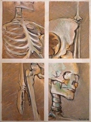 skeleton art lesson by lydia