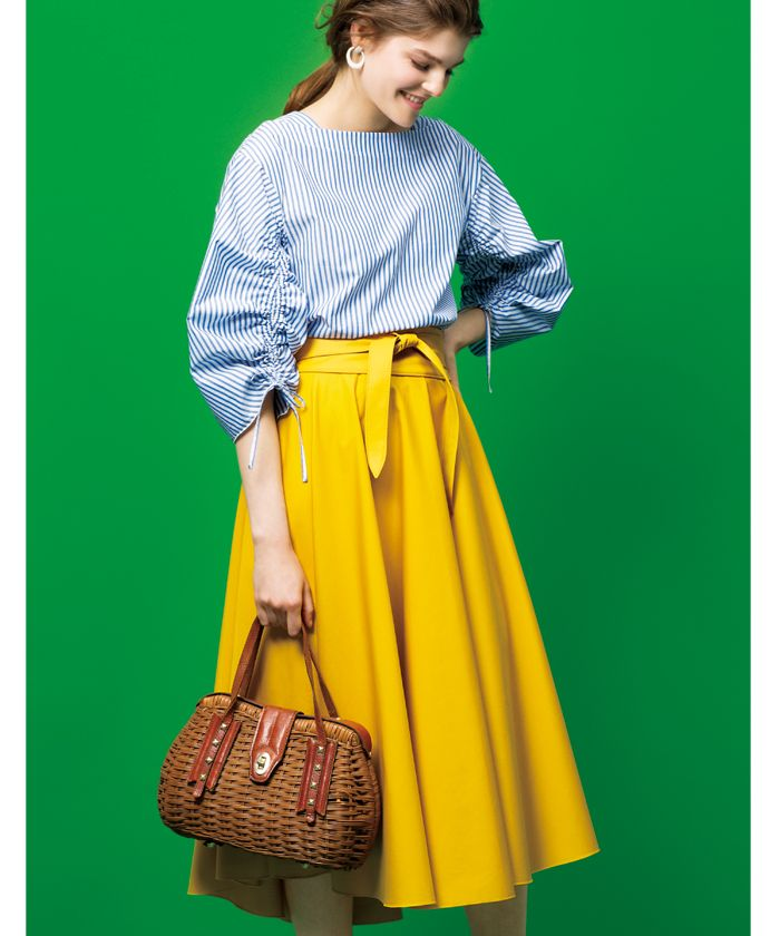 黄色いスカート #ファッション #ハイウェスト