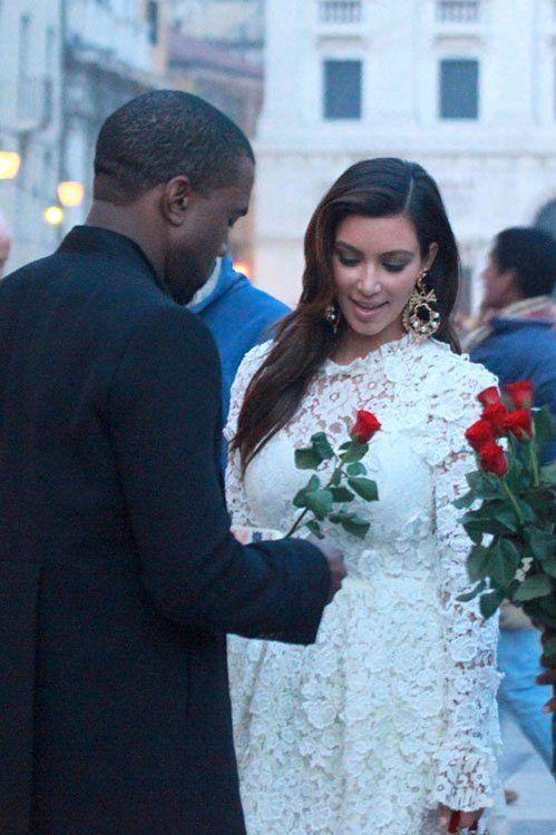 Kim Kardashian and Kanye West in Italy